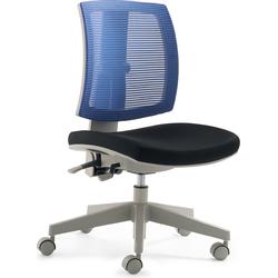 24Designs Kinderbureaustoel Flexis Blauw - Zwart