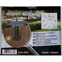 Platinum ingraaf parasolvoet adapter - antraciet