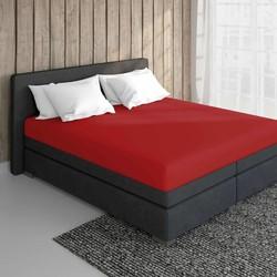 Nightsrest Jersey Hoeslaken - Rood Maat: 2-Persoons (140x200 cm)