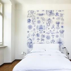 Delfts blauwe kwallen - per rol