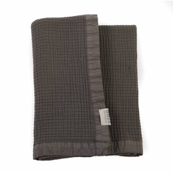Stapelgoed Plaid Waffel stonewashed Ghost Grey / Taupe Grijs Maat: 100x150cm