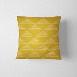 Tuinkussen Gele driehoeken DesignClaud - 45 x 45 cm kussenhoes + vulling