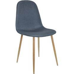 Stockholm stoel - stof denim - set van 4