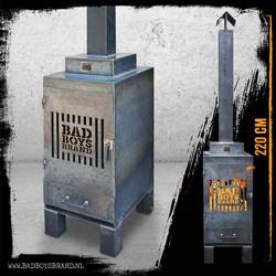 Sparta Gate Tuinhaard 220cm Staal