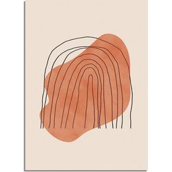 Regenboog Lijnen Poster - A2 poster zonder fotolijst