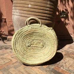 Myroundie - Roundie Bag - Ronde Ibiza Boho Tas 25 - Hand gevlochten Palmblad Tas - Maat L