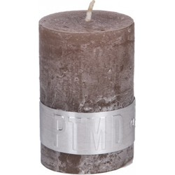 PTMD PTMD Rustic Ambient Brown Pillar Candle 6x4cm