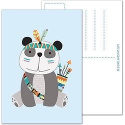 Panda ansichtkaart - Tribal - DesignClaud