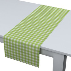 Rechthoekige tafelloper wit-groen geruit