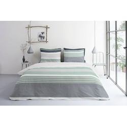 Dekbedovertrek So Striped Wit, 240x220 +20+2x60x70