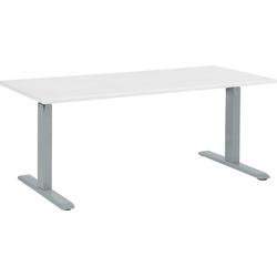 Bureau elektrisch verstelbaar wit/grijs 160 x 72 cm UPLIFT II