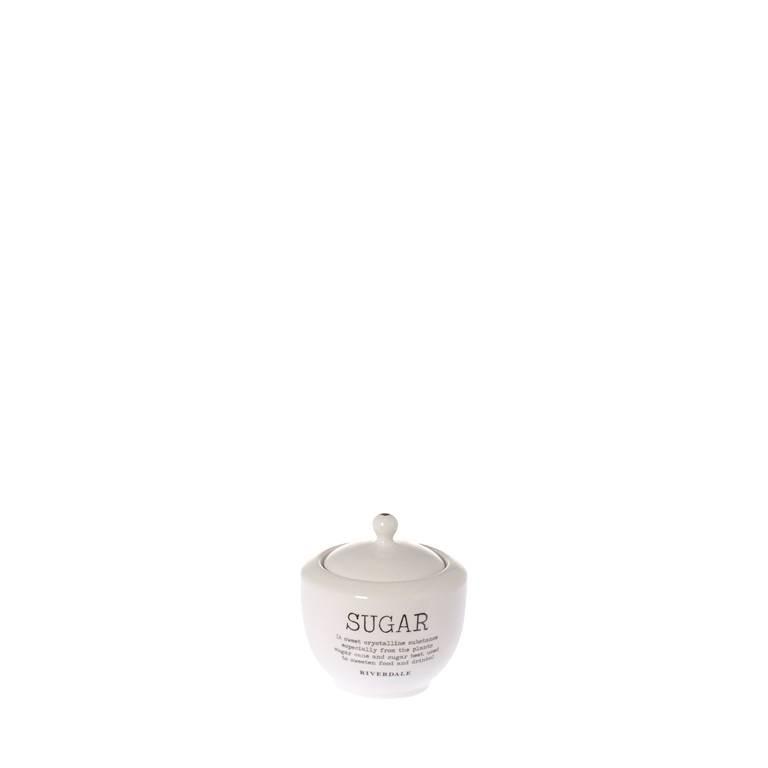 suikerpot Love white 11cm -