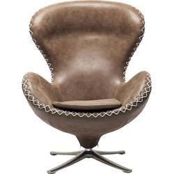 Kare Design - Draaibare Fauteuil Lounge Bonanza - Bruin Vintage Kunstleer
