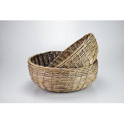 Rotan schalen set van 2 'special weaving'