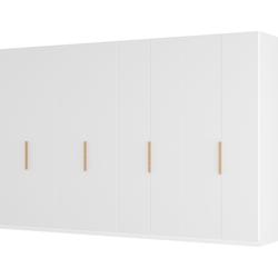 Draaideurkast Skøp I - wit matglas - 360cm (8-deurs) - 222cm - Comfort, SKØP