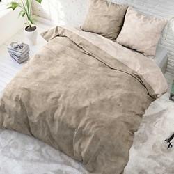 Sleeptime Twin Washed Cotton Dekbedovertrek Taupe-140x200/220
