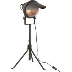 Train - Tafellamp - koplamp - metaal voet - zwart