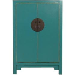 Fine Asianliving Fine Asianliving Chinese Opberg Kast Teal