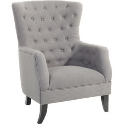 Fauteuil grijs, stoel, stoffen stoel, VIBORG