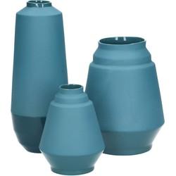 set van 3 vazen Hella Duijs blauw