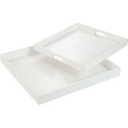 Groot Wit Dienblad 50x50 2 st.