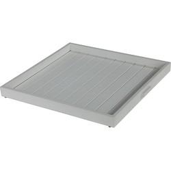 Garden Impressions Tumba dienblad 60x60x5 cm aluminium mat wit