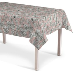 Rechthoekig tafelkleed wit-roze