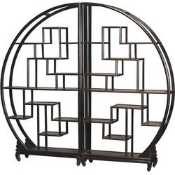 Fine Asianliving Chinese Ronde Open Display Kast Zwart