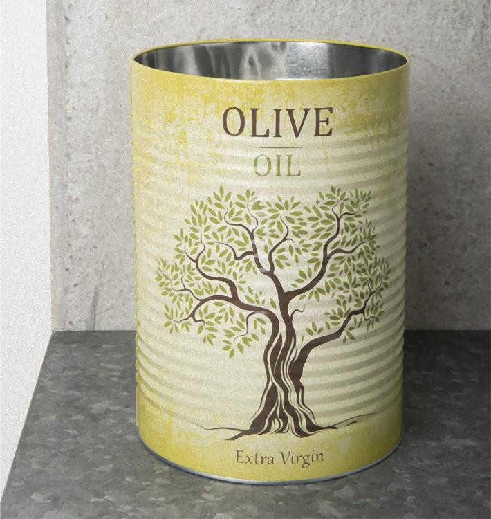 Storage Canister Tin - Olive Oil -