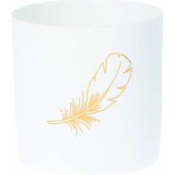 Sfeerlicht Feather wit 8cm