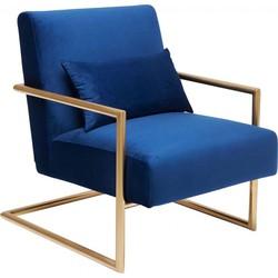 Kare Design - Fauteuil Living Vegas - Blauw Fluweel