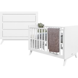 Bopita Anne 2-Delige Babykamer - Bed - Commode - Wit