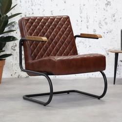 Industriële fauteuil Mustang vintage bruin