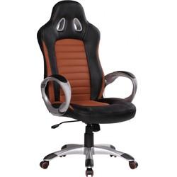 24Designs Racer2 Bureaustoel & Gamestoel - Kunstleer - Zwart/Bruin