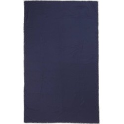 Plaid, blauw, 100% wol, 140x200