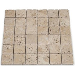 Travertine Light Tumbled 4,8 x 4,8 x 1 cm