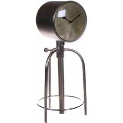 Klok  Lanmeur Zilver  59cm Metaal Industrieel