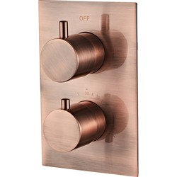 Saniclear Copper inbouw thermostaat geborsteld koper