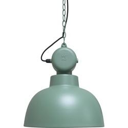 Hanglamp Industriële Factory - M - Groen - Mat - HK Living