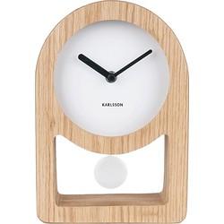 Karlsson Lena Tafelklok Pendulum MDF/Houtfineer 25 x 17 x 5,5 cm Wit