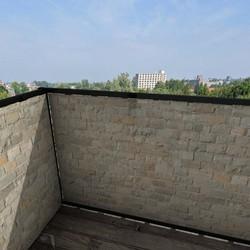 Balkonafscheiding gemengde stenen (100x350cm Enkelzijdig)