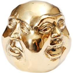 The Buddha Head 4 Faces - Gold - M
