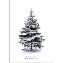 Oh Denneboom kerstboom poster - Kerst poster - Kerstboom - A4 poster zonder fotolijst