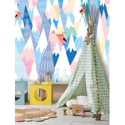 Vliesbehang XL Bomen kleur 250x250 cm