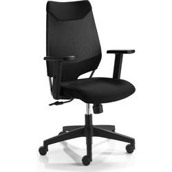 24Designs Bureaustoel Chicago - Zwart/Zwart