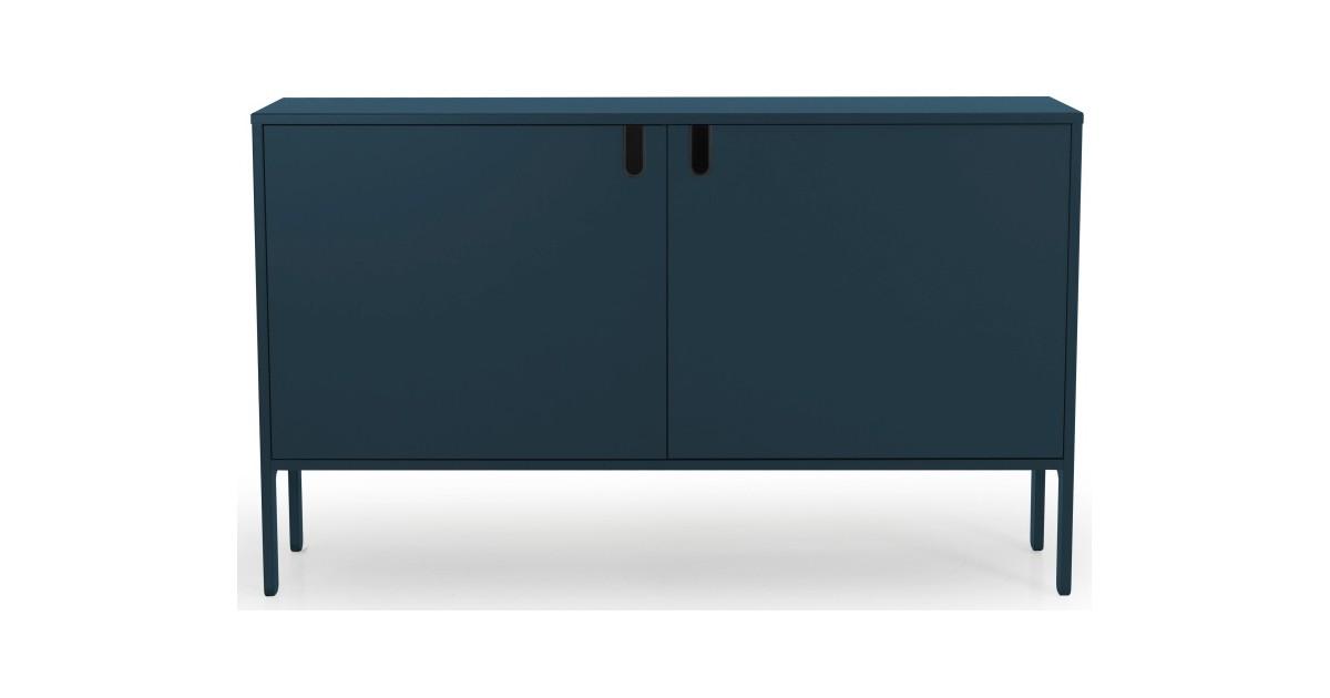 Tenzo UNO Dressoir - 2-Deurs - 148x40x89 - Petrol Blauw