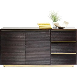 Kare Design - Casino Lounge Dressoir - 2 Deurs/3 Laden - Mangohout