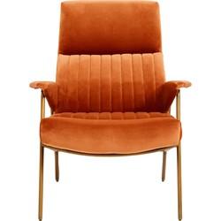 Nordal fauteuil Ibex velvet terracotta 91 x 79 x 90
