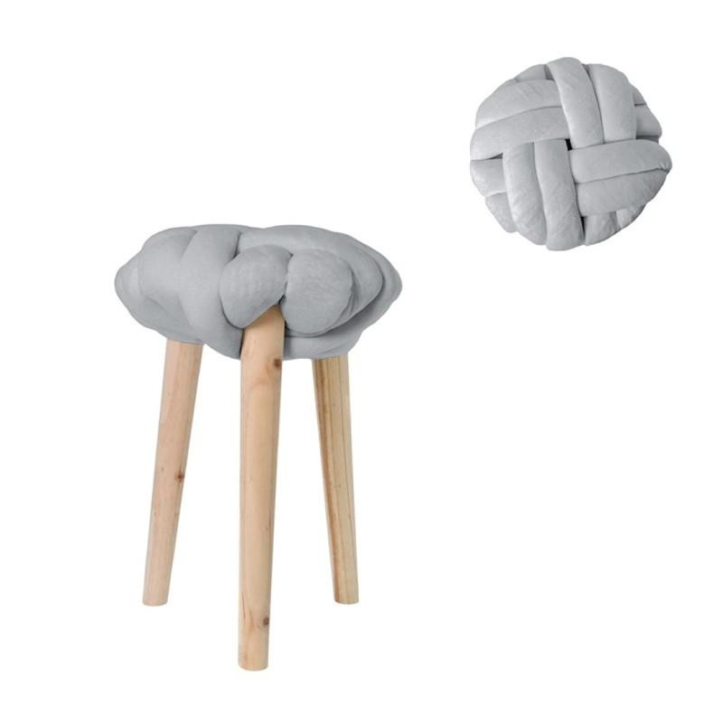 Tabouret - kruk - grijs -