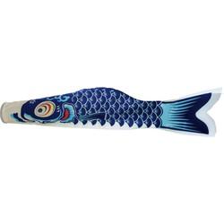 Fine Asianliving Japanse Wind Koi Blauw Koinobori 100cm